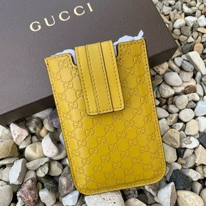 NWOT Authentic Gucci Leather Card Case